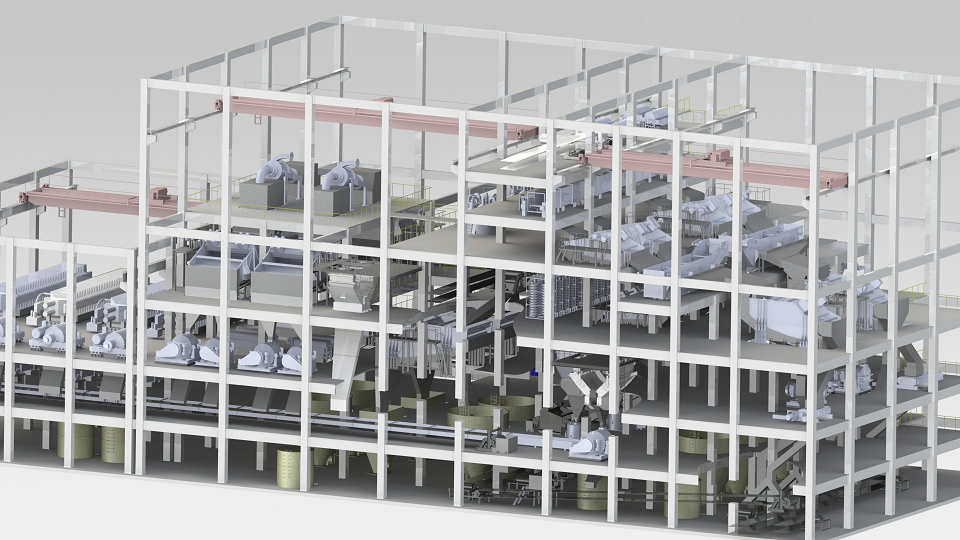 3D mineral processing plant design Helius Tech Serena